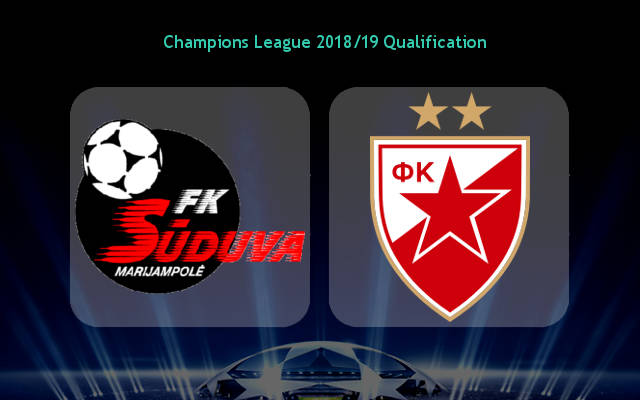 Tip bóng đá trận Sūduva Marijampolė vs FK Crvena zvezda - 01h00 – ngày 10/07/2019 – Sơ Loại Europa League