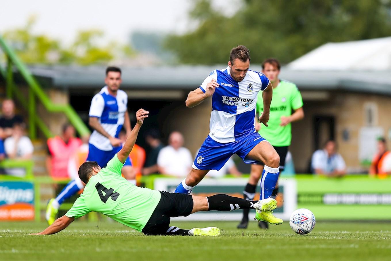 Alex Rodman of Bristol Rovers in action - Rogan/JMP - 21/07/2018 - FOOTBALL - The New Lawn - Nailsworth, England - Forest Green Rovers v Bristol Rovers - Pre Season Friendly.